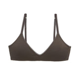 Eberjey Pima Goddess Everyday Bralette in charcoal grey B618P