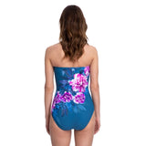 Gottex Fiji Bandeau Swimsuit in Navy/Pink 20F1070