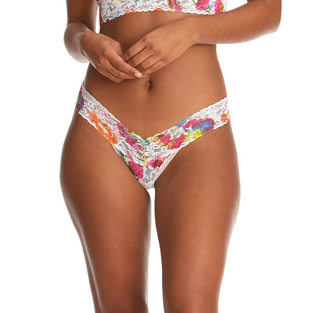Hanky Panky Lace Floral Reflections Thong (Low Rise)