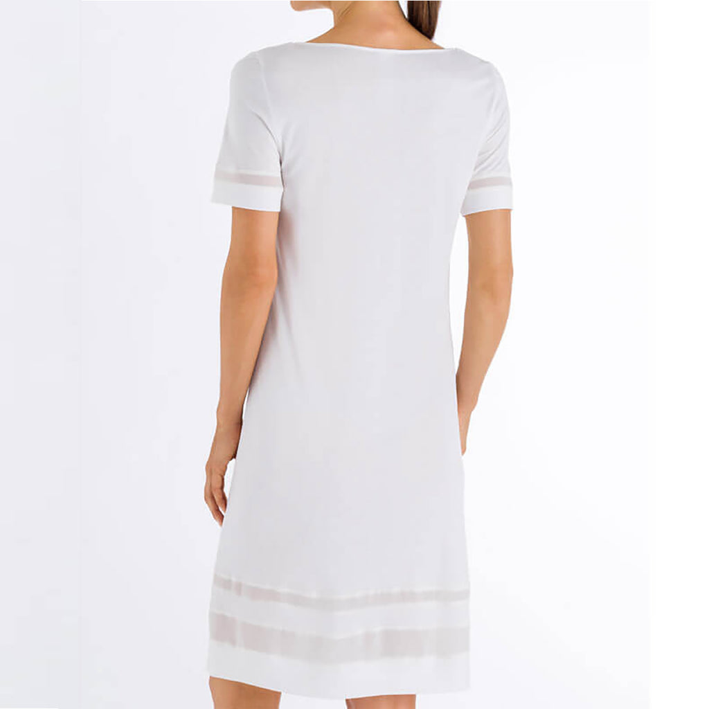 Hanro short sleeve Enna Dress 076522 in off-white