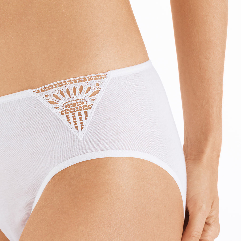 Hanro Malene 072674 Midi Brief in White