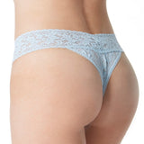 "Hanky Panky ""I DO"" Lace Original Rise Thong Bridal 6511 in Blue"