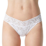 "Hanky Panky ""I DO"" Lace Original Rise Thong Bridal 6511 in White"