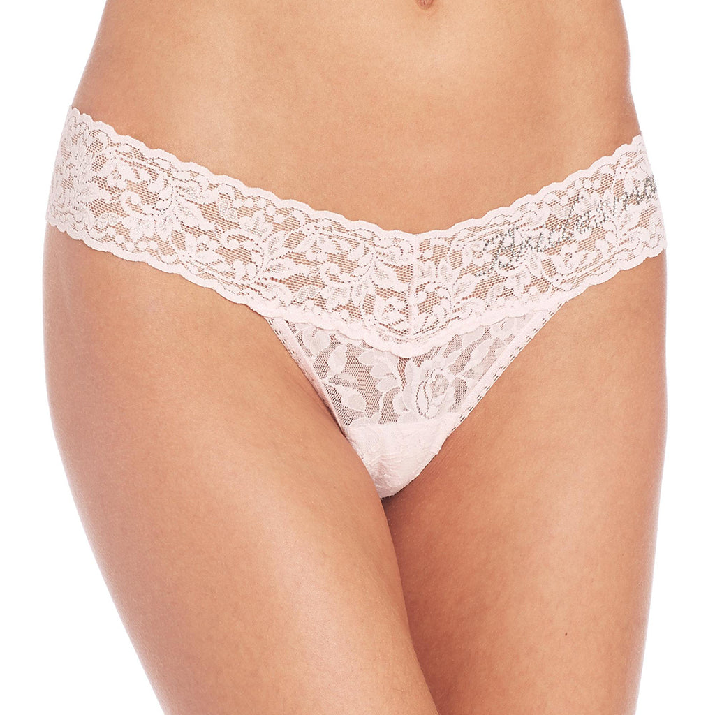 Hanky Panky Bridesmaid Low Rise Thong in Bliss Pink 491031
