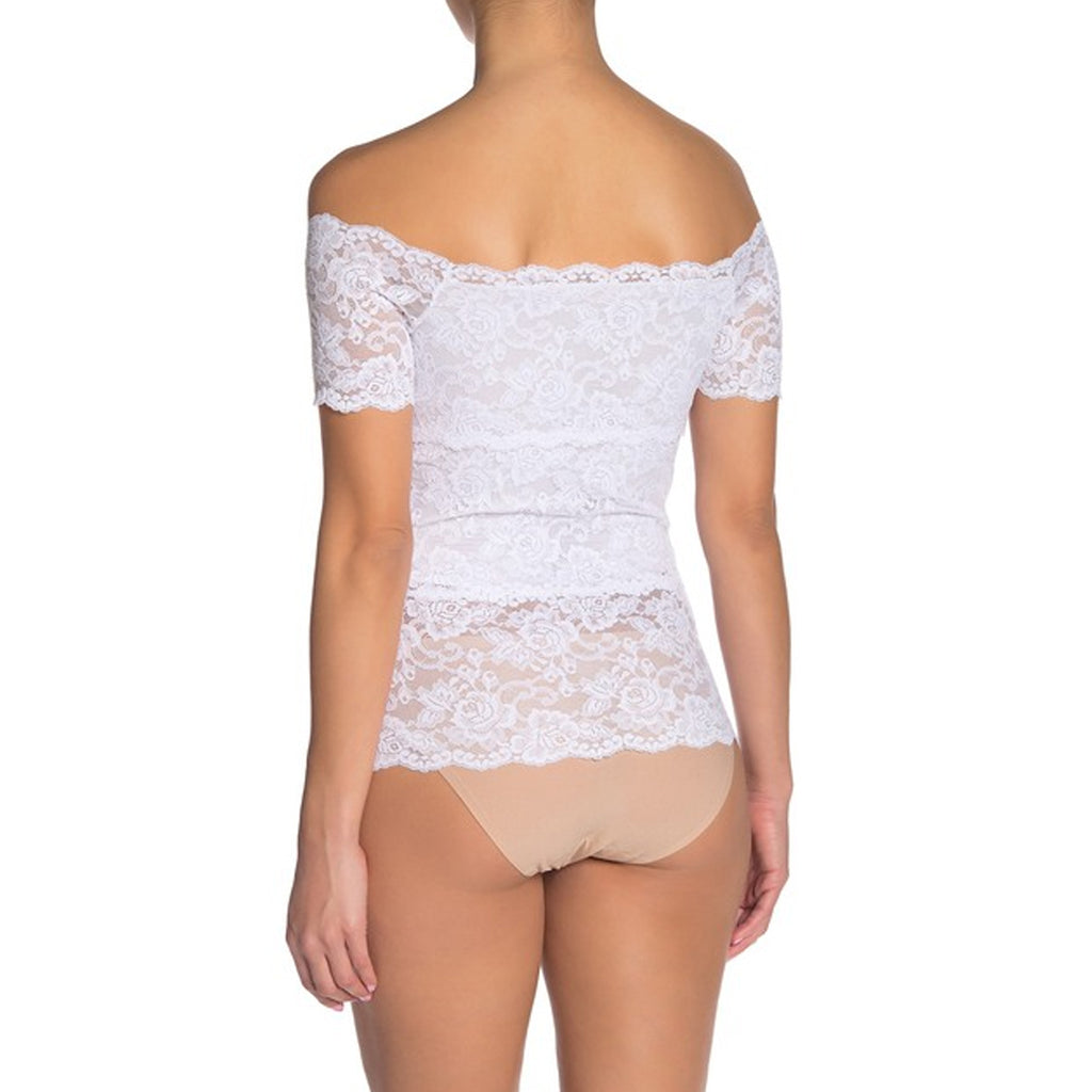 Hanky Panky Evelyn Lace Top in White 9DT531