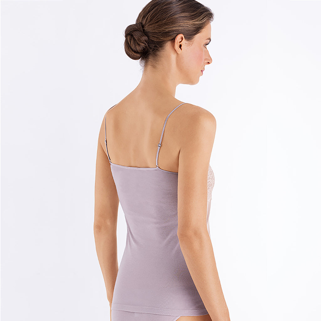 Hanro Moments Camisole 071448 in Pastel Grey