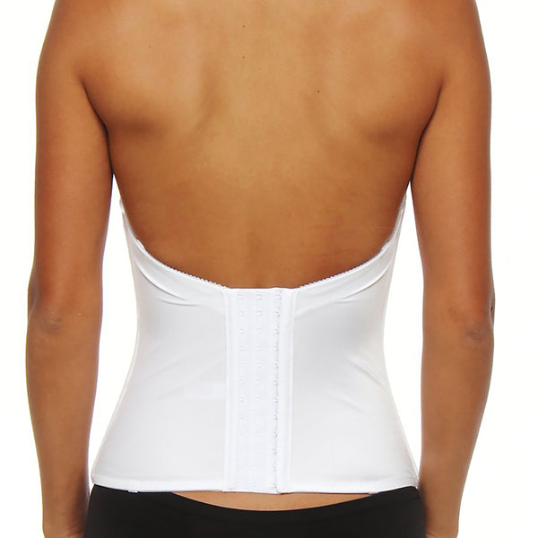 Jezebel Caress Too Push-Up Bustier in White