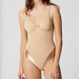 Lejaby Nuage Bodysuit 5552 in Power Skin Front view on model