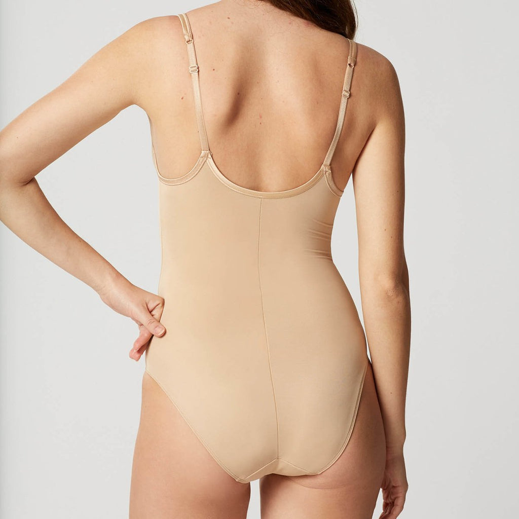 Lejaby Nuage Bodysuit 5552 in Power Skin rear view on model