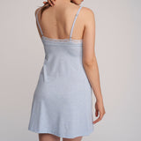 Lusome LS19-248 Elsa Chemise in Denim Mix blue