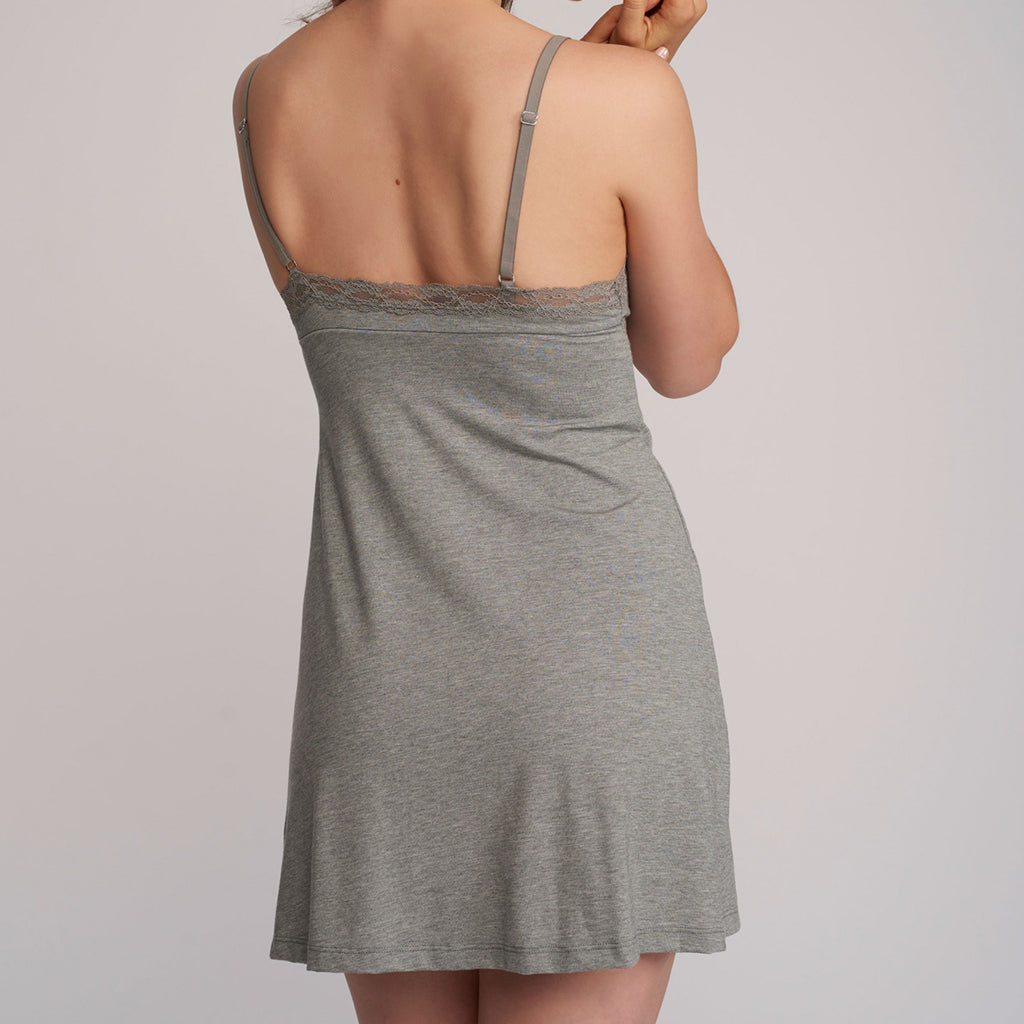 Lusome LS19-248 Elsa Chemise in Light Shadow grey
