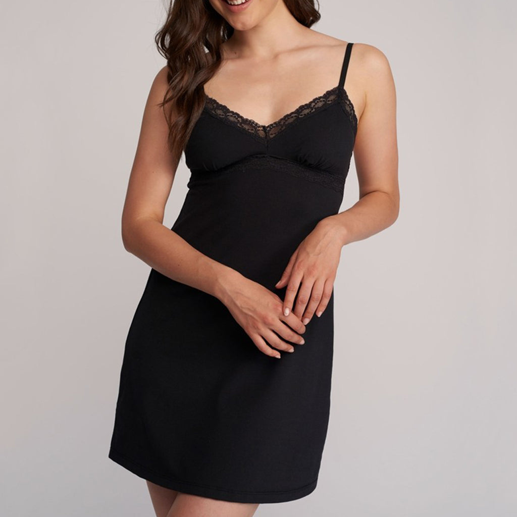 Lusome LS19-248 Elsa Chemise in BLACK