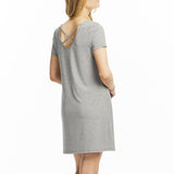 Lusome LS209 Bette Cap Nightshirt in LIGHT SHADOW