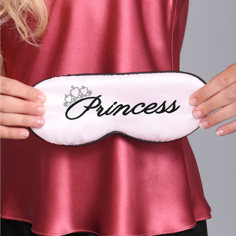 Linda Hartman Princess Sleep Mask in Light Pink/Black 761211