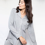 Lusome Donna Pyjama Set in Dark Shadow