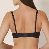 Marie Jo L'aventure Tom Push Up Bra 022-0827 in black charcoal on model back