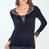 Oscalito Long Sleeve Chantilly Top w/ Zipper