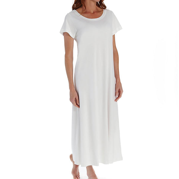 P-Jamas Butterknits Long Nightgown in White