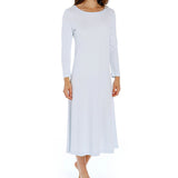 P-Jamas Butterknits Long Sleeve Nightgown in Blue