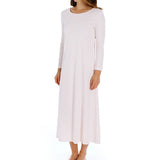P-Jamas Butterknits Long Sleeve Nightgown in Pink