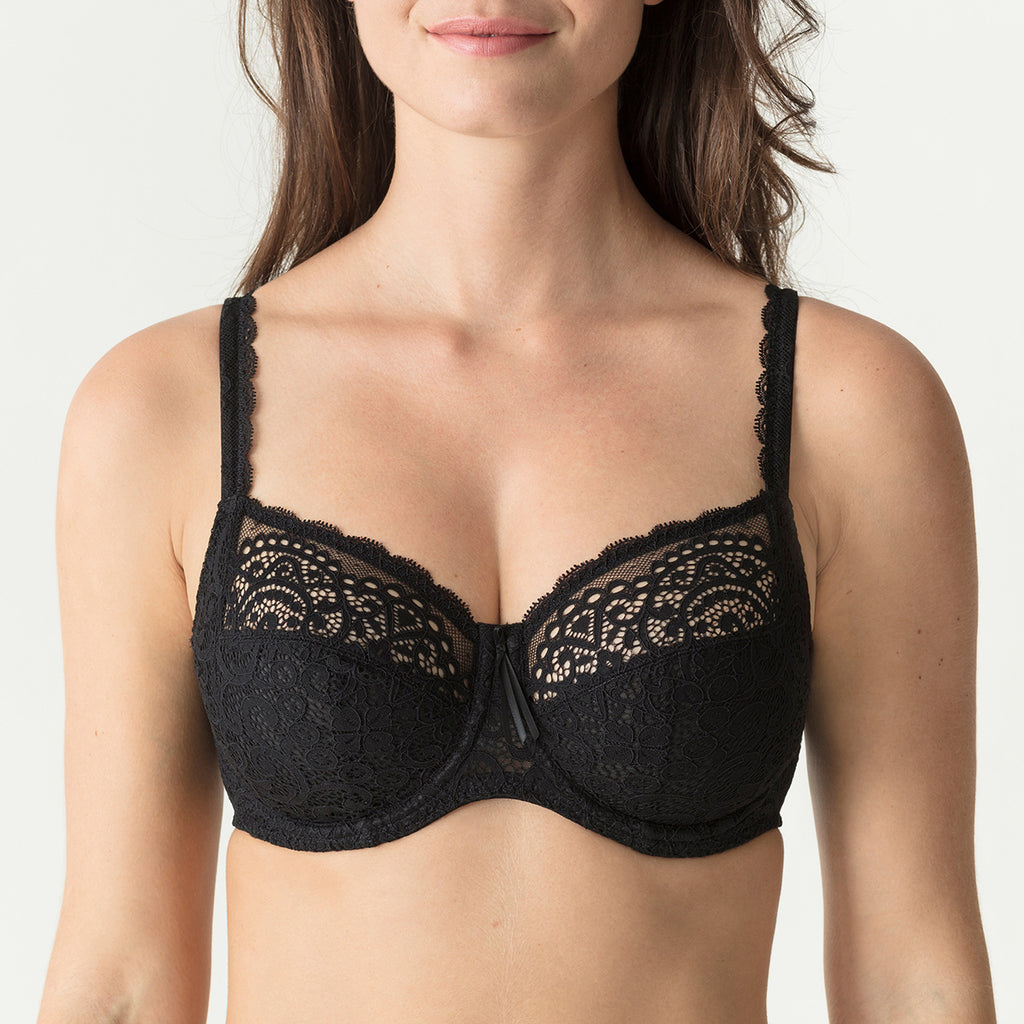 PrimaDonna Twist I Do Full Cup Bra 014-1602/03 in black front view on model