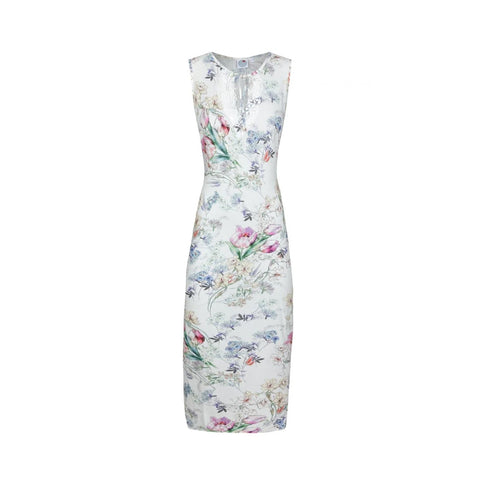 Ringella Sleeveless Gown in White Floral 0286102