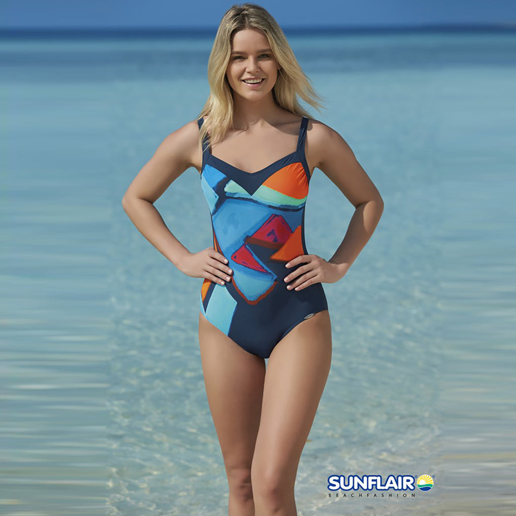Sunflair Painted Swimsuit