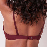 Simone Perele Surprenante 3D Bra 14L316 in Berry back on model