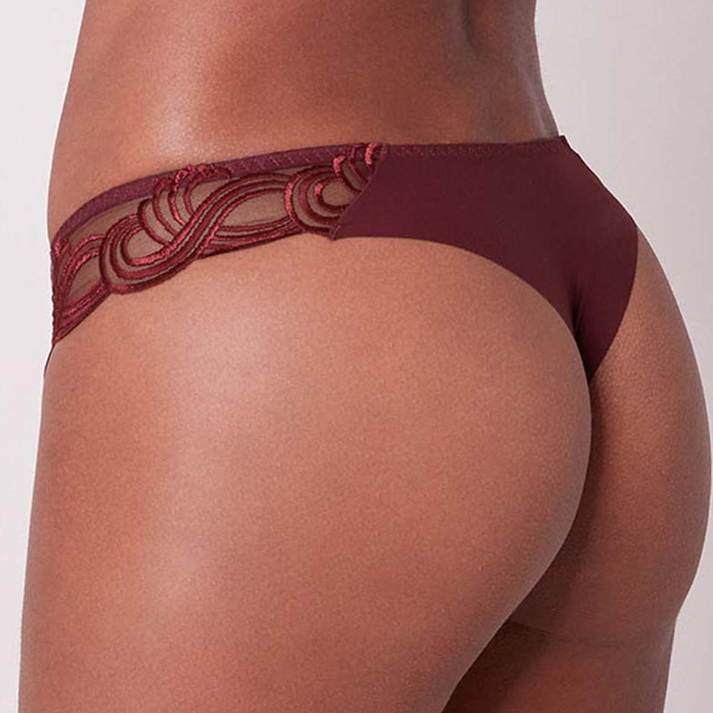 Simone Perele Surprenante Thong in Berry 14L710