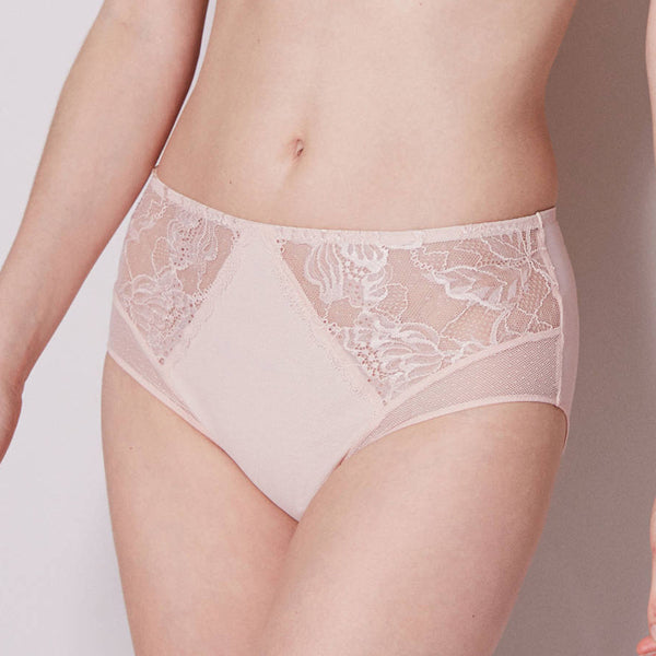 Simone Perele 12H770 Promesse Retro Brief in Blush pink