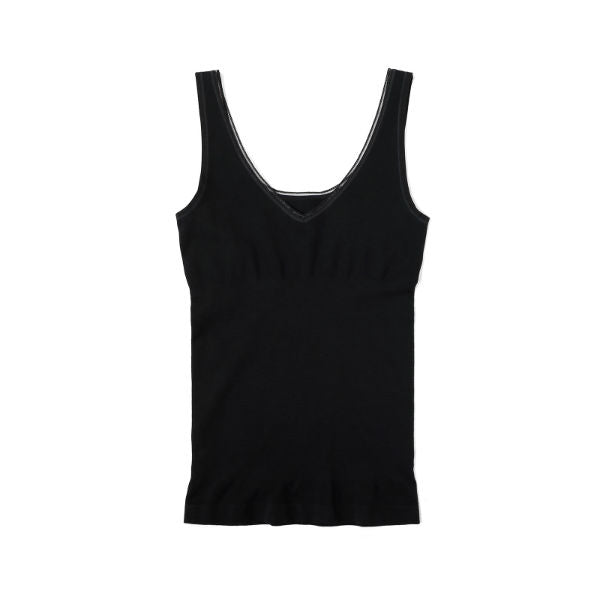 Yummie Seamless Reversible Control Tank in black YT5-164