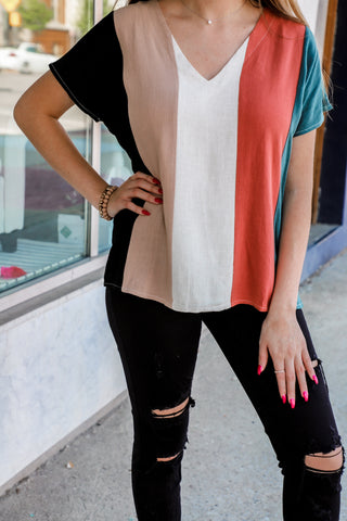 striped top from the rooted shoppe
