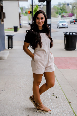 Loved By You Overall Romper