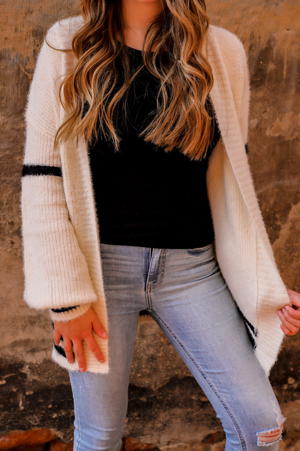 White Collegiate Cardigan