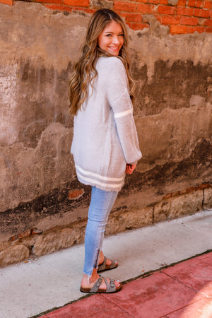 Gray Collegiate Cardigan