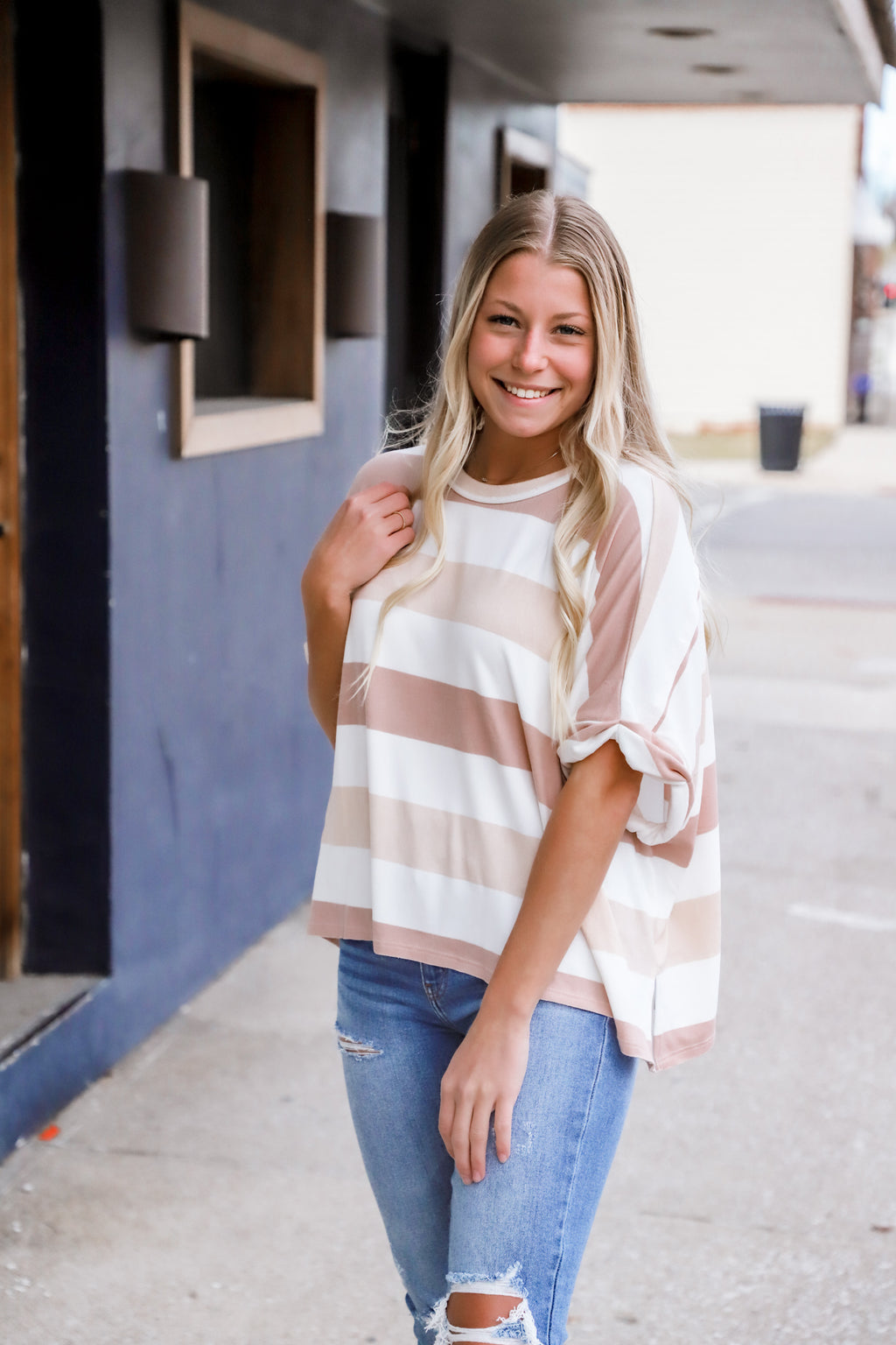 Communion Striped Top