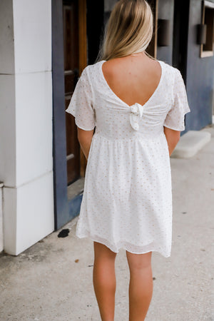 Take Courage Ivory Dot Dress