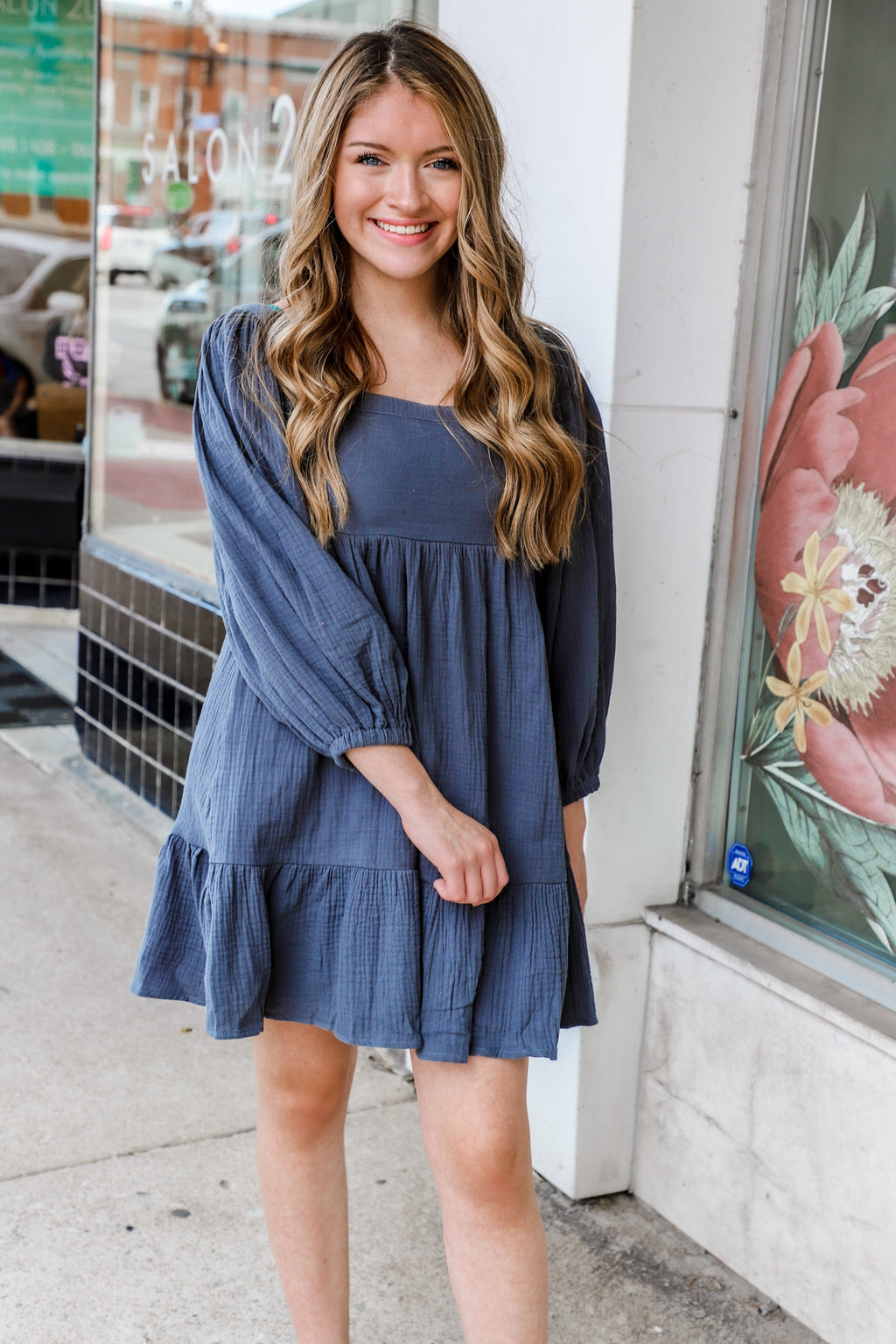 Loyal Teal Mini Dress