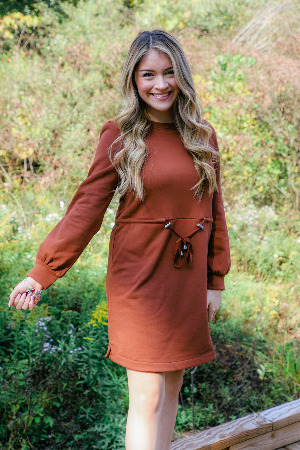 Let the Light In Sweater Dress