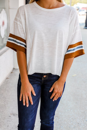 Trust in You Striped Cropped Tee