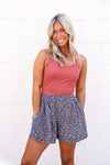 Stronger Suede Contrast Blouse - The Rooted Shoppe