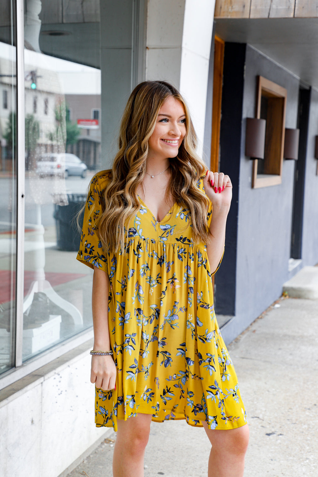 Patience Floral V-Neck Dress