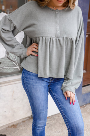 Pure Olive Peplum Thermal