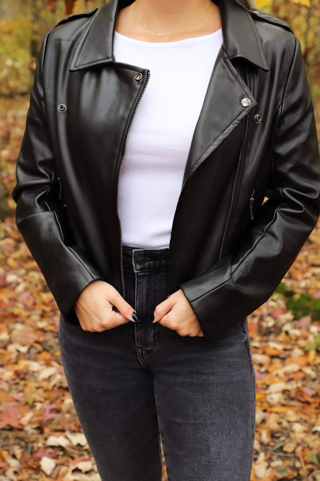 Never Walk Away Faux Leather Jacket