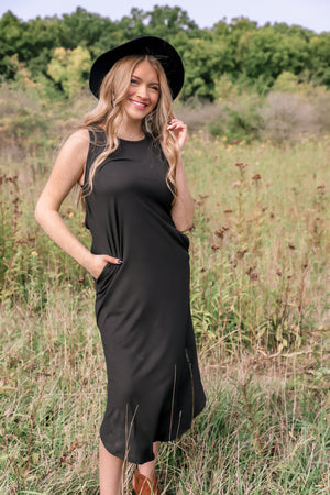 Safe Black Maxi Dress