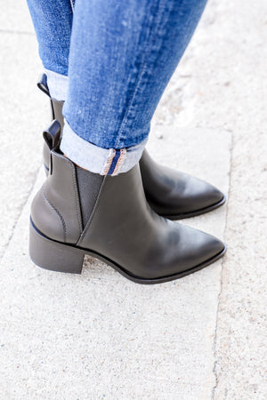 Julia Black Pointed Toe Booties