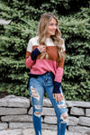 Truth Be Told Color Block Sweater