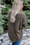 Inevitable Off the Shoulder Olive Tunic