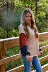 Overcome Colorblock Sleeve Sweater