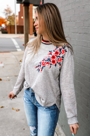 How Great Floral Banded Top